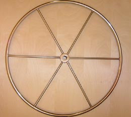 "24"" Destroyer Style Sailboat Steering Wheel - Boaterbits"