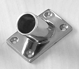 "Boat Railing Hand Rail Fitting Rect Base 45 Degree 1"" - Boaterbits"
