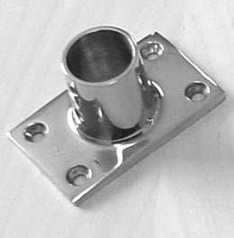 "Boat Railing Hand Rail Fitting Rect Base 90 Degree 7/8"" - Boaterbits"