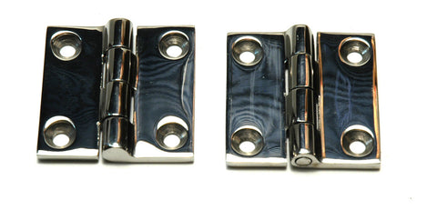 Cast Stainless Steel Locker Door Butt Hinges - Boaterbits