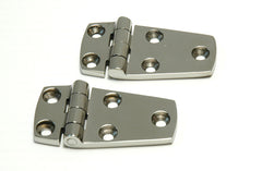Cast Stainless Steel Short Side Strap Hinges - Boaterbits