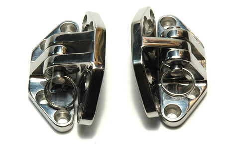 Cast Stainless Steel Hatch / Motorbox Hinges 90 Degree - Boaterbits