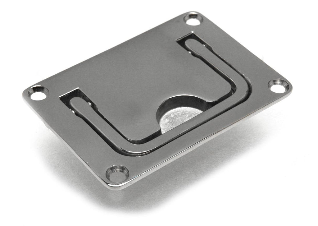 "Stainless Steel Boat Hatch Flush Ring Pull 3"" - Boaterbits"
