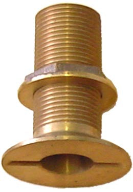 "Boat Bilge Pump Thru Hull Fitting Bronze Flush 1-1/4"" - Boaterbits"