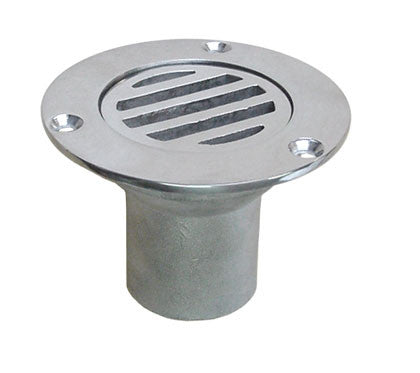 "Stainless Steel Boat Cockpit Drain Scupper 1-1/2"" - Boaterbits"