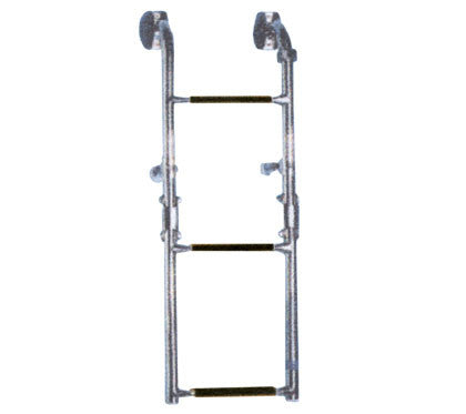 3 Step Boat Transom Mount Folding Boarding Ladder - Boaterbits