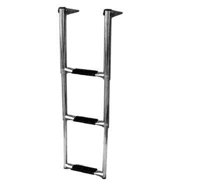 3 Step Swim Grid Mounted Boat Boarding Ladder - Boaterbits
