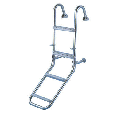 Boat Boarding Ladder Deck Mounted Stainless 4 Step - Boaterbits