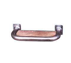 Stainless Steel Transom Handle W/ Wooden Step - Boaterbits
