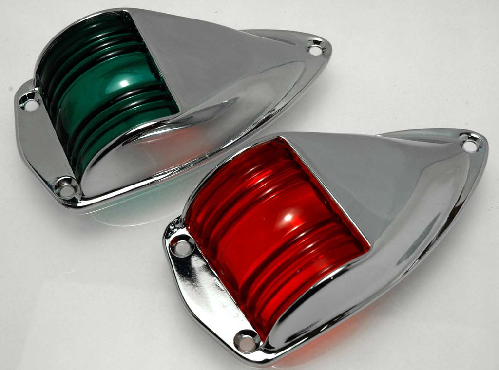 Vintage Styled Chromed Brass Navigation Lights - Boaterbits