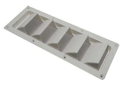 Boat Hull Bilge Blower Vent Louvered White - Boaterbits