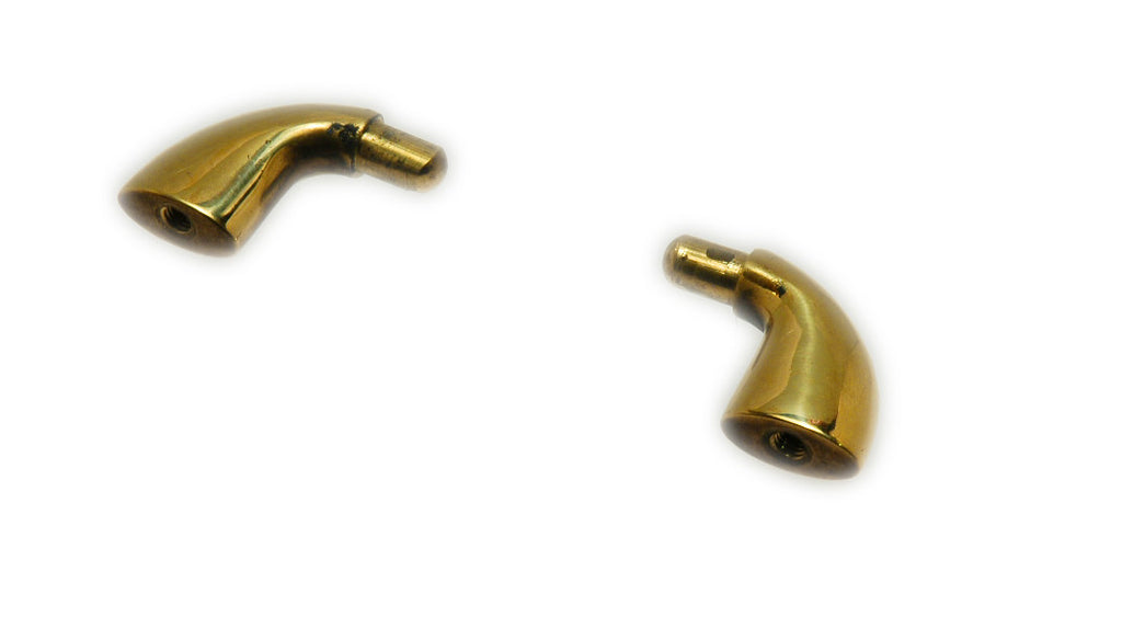 Boat Cabinet Pinrail Galley Rail Ends Polished Brass - Boaterbits