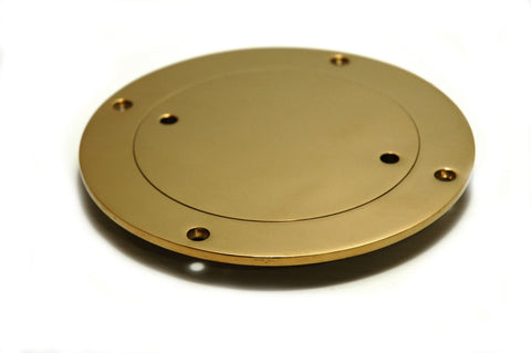 "Dorade Cowl Vent Replacement Deck Plate Titan Gold 3"" - Boaterbits"