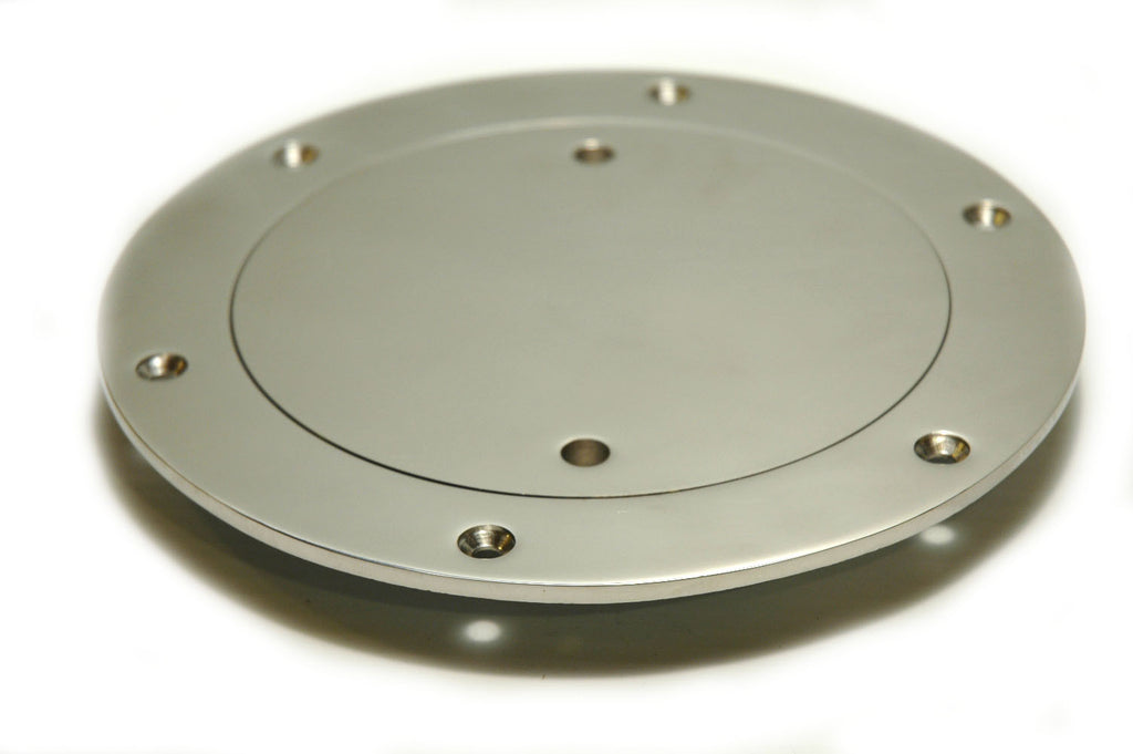 "Dorade Cowl Vent Replacement Deck Plate Stainless 4"" - Boaterbits"