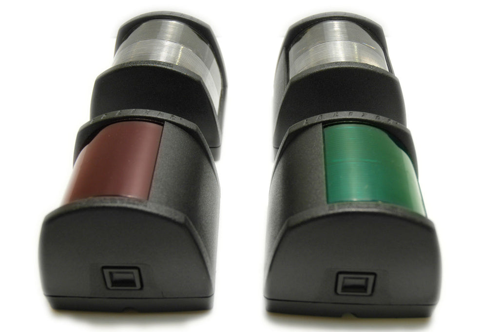 Series 40 Boat Navigation Lights Complete Set Black - Boaterbits
