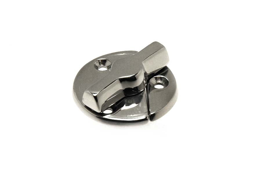 Stainless Steel Boat Cupboard Door Button Latch - Boaterbits