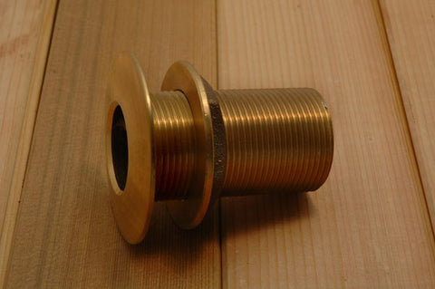 "Boat Bilge Pump Thru Hull Fitting Bronze 1-1/2"" - Boaterbits"