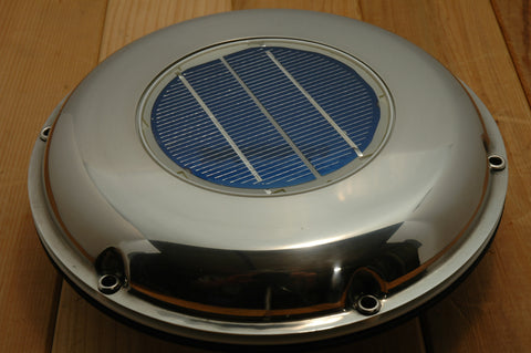 Stainless Solar Powered Day / Night Deck Vents - Boaterbits