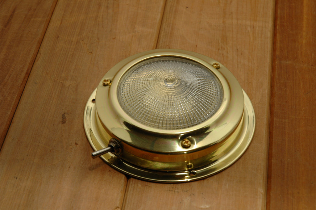 "Titanium Nitride Power Boat Halogen Dome Light 3"" - Boaterbits"