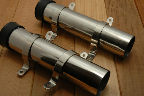 Stainless Steel Fishing Rod Holders Pair - Boaterbits