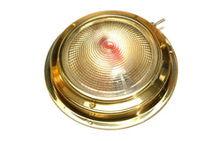 "Polished Brass Night Vision Halogen Dome Light 4"" - Boaterbits"