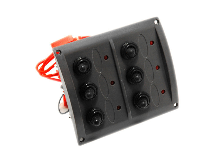 6 Gang Splash Proof Electrical Switch Panel - Boaterbits