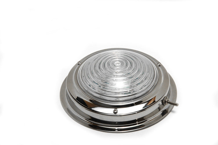 "Stainless Steel Led Dome Light 6-1/2"" - Boaterbits"