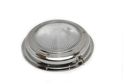 "Stainless Steel Halogen Boat Dome Cabin Light 6-1/2"" - Boaterbits"