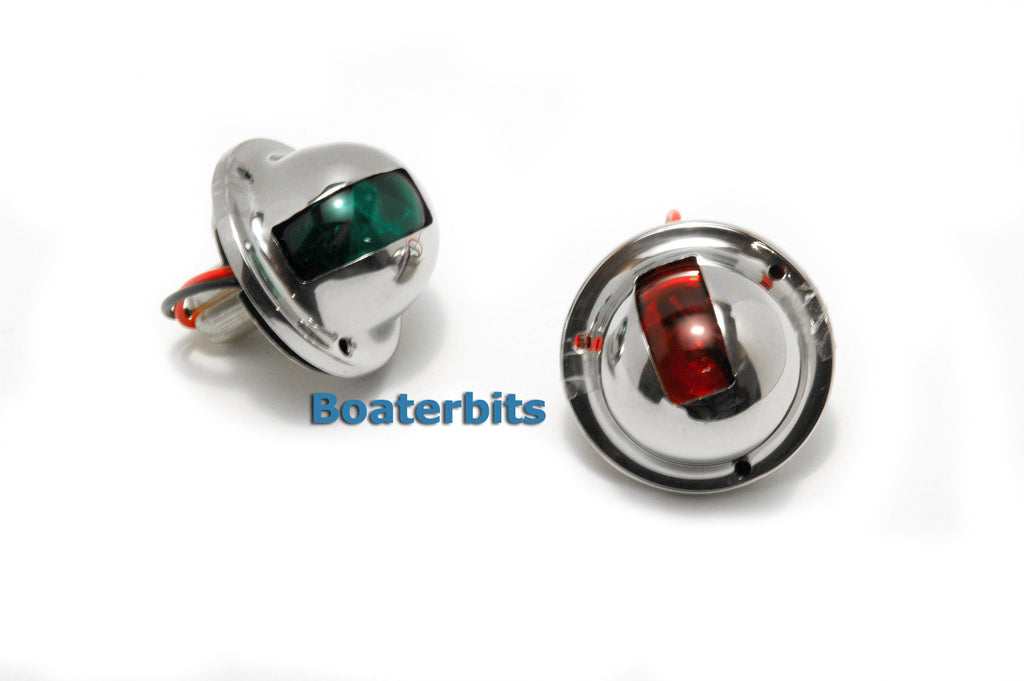 Stainless Steel Boat Navigation Lights Side Mount - Boaterbits