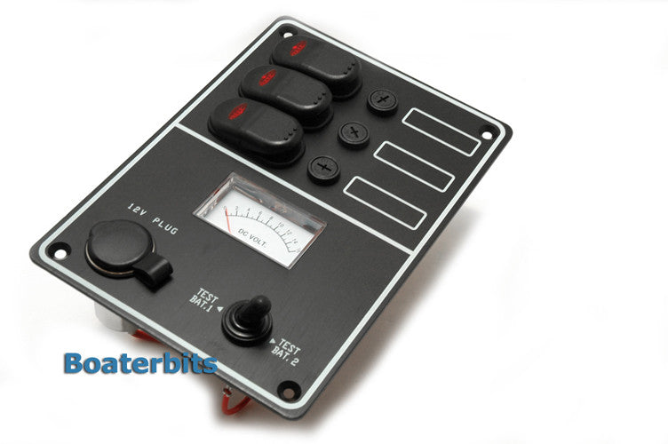 Waterproof Switch Panel With Voltmeter - Boaterbits