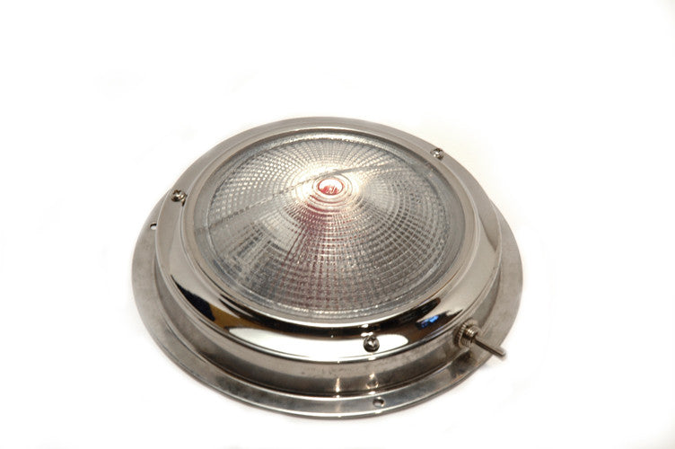 "Stainless Steel Halogen Night Vision Dome Light 4"" - Boaterbits"