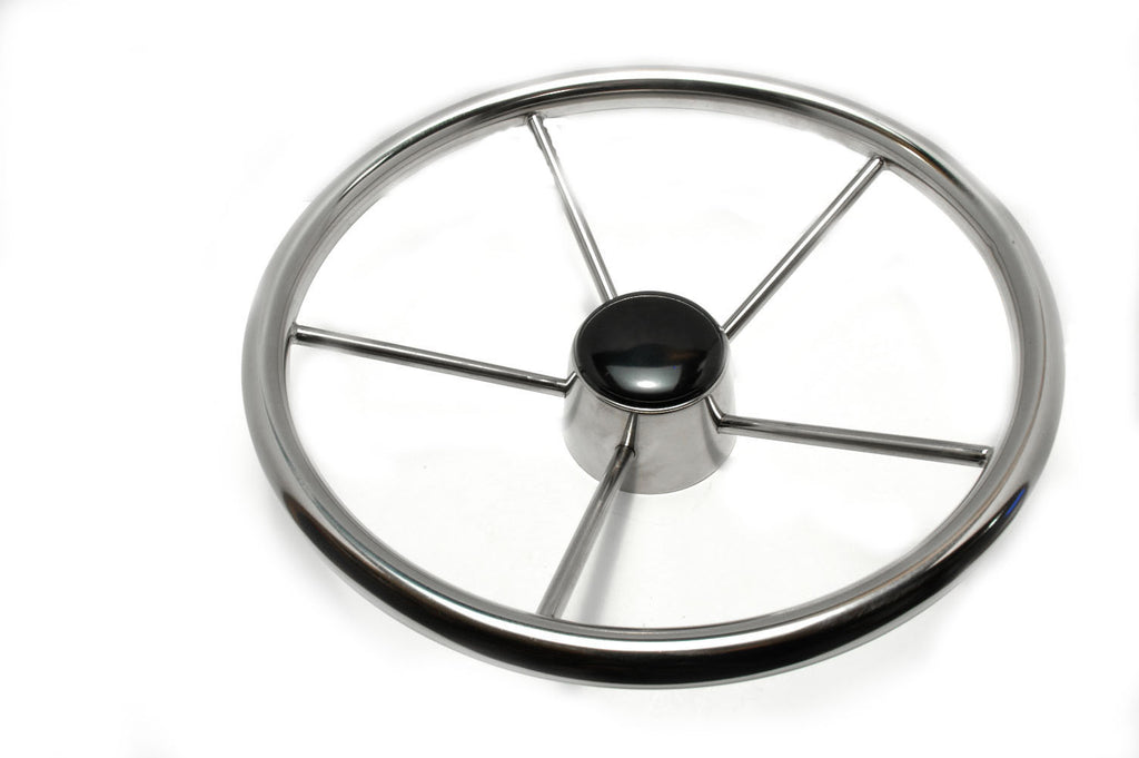 "Boat Steering Wheel Stainless Steel 18"" 10 Degree - Boaterbits"