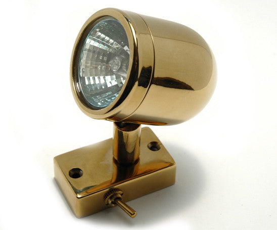 Solid Brass Halogen Reading Light - Boaterbits