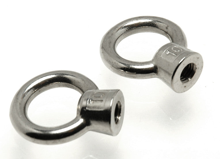 "Stainless Steel Threaded Eye Nut 1/4"" - Boaterbits"