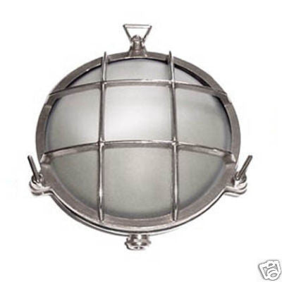 Boat Vapour Proof Chrome Brass Light Fixture 8-1/2 - Boaterbits