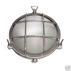 Boat Vapour Proof Chromed Brass Light Fixture 7-1/2 - Boaterbits