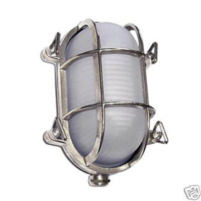 "Boat Vapour Proof Chrome Brass Light Fixture 8"" - Boaterbits"