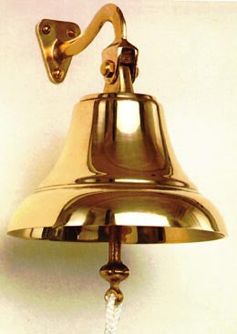 "Solid Brass Ships Bell 6"" Made In Italy - Boaterbits"