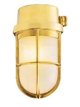 "Boat Vapour Proof Brass Light Fixture 7-5/8"" - Boaterbits"