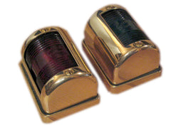 Classic Styled Solid Brass Navigation Lights - Boaterbits