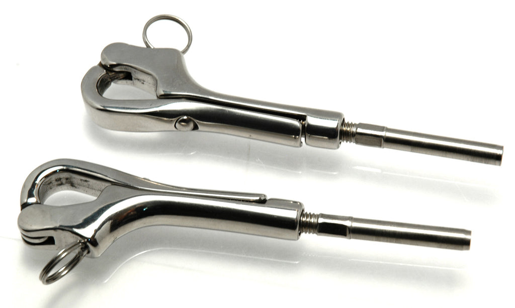 Sailboat Lifeline Pelican Hooks Stainless Pair - Boaterbits
