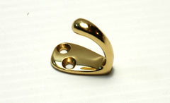 Solid Brass Coat / Hat Hook - Boaterbits