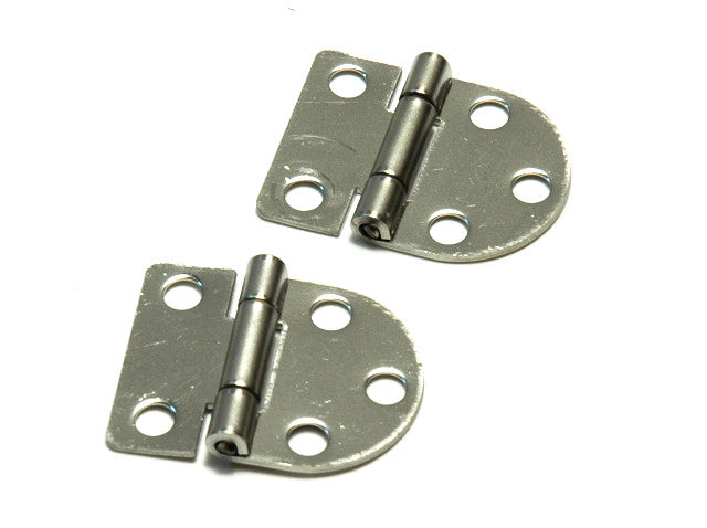Stainless Steel Door Oval 1 Side Hinges - Boaterbits
