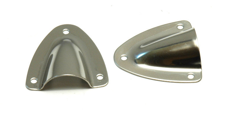 Stainless Steel Midget Locker Clamshell Vents - Boaterbits