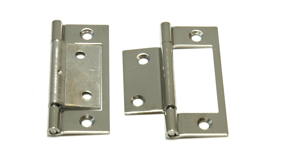 "Stainless Steel Non Mortice Hinge 3"" - Boaterbits"