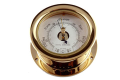 "Ships Barometer Solid Brass 3-1/2"" Victory 617R - Boaterbits"