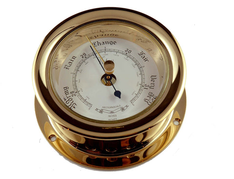 "Ships Barometer Solid Brass 3"" Victory 618R - Boaterbits"
