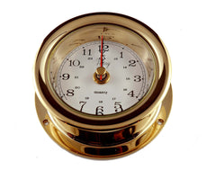 "Ships Clock Solid Brass 3"" Victory 618 - Boaterbits"