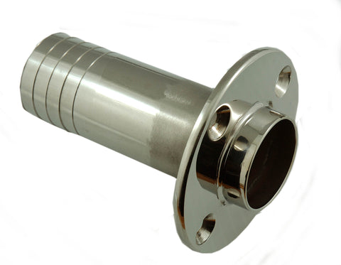 "Boat Stainless Steel Exhaust Tube Thru Hull 1-1/2"" - Boaterbits"