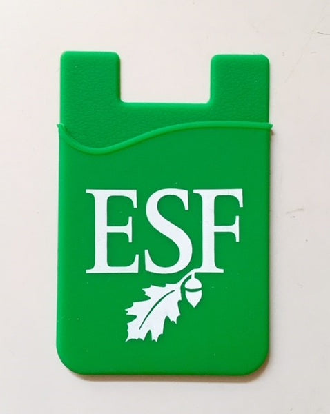 Green silicone cell phone sleeve with white logo